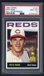 1964 Topps #125 Pete Rose PSA 8 VERY HIGH END