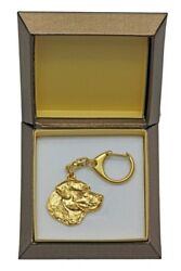 Labrador Retriever Keychain In A Box, Golden Plated Key Ring Usa 2416