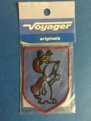 Rare Vintage 1970#x27;s Droopy Dog Hat Hipster Jacket Hoodie Voyager Patch Crest NIP