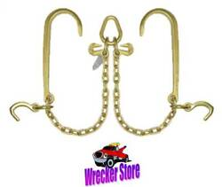 G70 V Chain, V Bridle W/ J Hook Compact J Rollback Car Carrier Wrecker Tow Truck