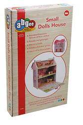 Wooden Small Dolls House By A B Gee With 7 Pieces Furniture Brand New