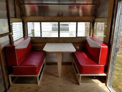 Retro Vintage Serro Scotty Camper Dinette Seat Cushions And Upholstery Shasta