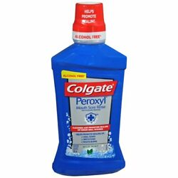 Colgate Peroxyl Mouth Sore Rinse Mild Mint - 16 OZ (2 Packs)