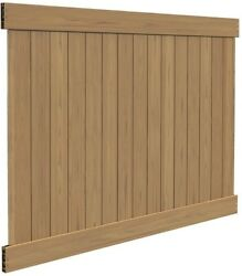 Fence Panel Kit 6 ft. H x 8 ft. W Vinyl Privacy Pattern Flat Framed in Cypress