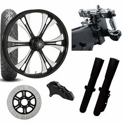 Rc 26 Valor Eclipse Wheel Tire Neck Rake Front End Package Harley Single Side