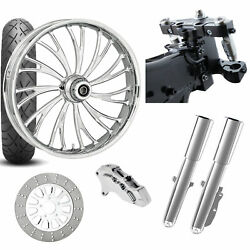 Rc 26 Axxis Chrome Wheel Tire Neck Rake Front End Package Harley Single Side