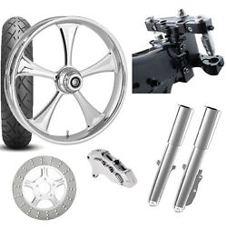 Rc 26 Clutch Chrome Wheel Tire Neck Rake Front End Package Harley Single Side