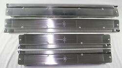 1958-60 Lincoln Premiere 4-door Sill Aluminum Plates Set Of 4 New Acid Etched