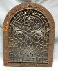 Antique Arched Top Heat Grate Grill Floral Ivy Decorative Arch 12x14 129-19c