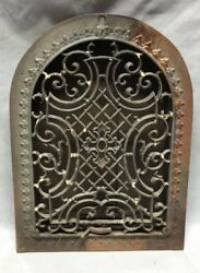 Antique Arched Top Heat Grate Maltese Cross Gothic Arch 8x12 132-19c