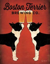 FINE-ART-PRINT-Boston-Terrier-Brewing-Co-Poster-Paper-or-Canvas-for-home-decor