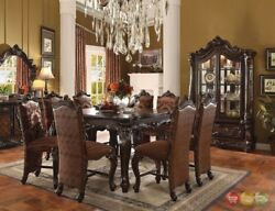 Versailles Formal 5 Piece Dark Oak 56 Counter Height Dining Table And Chair Set