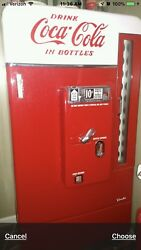 Early 1950's Coca Cola Working Drink Machine Painting Perfect Vendo 110 (V-110)