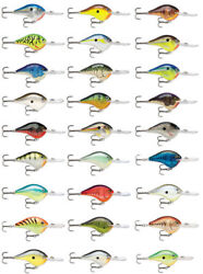 Rapala Dives-to Series Dt10 2 1/4 Inch Balsa Wood Crankbait Bass Fishing Lure
