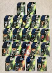 Vintage Star Wars Power of the Force Lot of 21 NIB Action Figures Kenner Hasbro