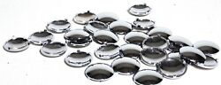 Upholstery Tuck N Roll Button Covers 25 Chrome Plastic For Kenworth 1 1/16 Od