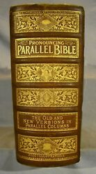 Holy Bible King James And Revised Old And New Hand-colored And Chromolith Plates, Huge