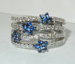 Diamond And Sapphire Ring Blue Star Stones Diamonds Unique Pattern And Shape