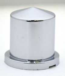 Nut Covers10 1-1/8 Round Pointed Chrome Plastic 1-7/8 Tall Freightliner Pete
