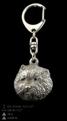 West Highland White Terrier Silver Keyring Solid Keychain Key Ring USA 72