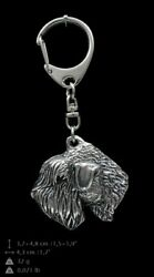 Irish Soft Coated Wheaten Terrier Silver Keyring Solid Keychain Key Ring 1101