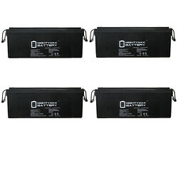Mighty Max 12v 250ah Sla Battery Replaces Bu-739 Yarder Skagit Products - 4 Pack
