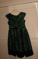EUC JENNY & ME SPARKLY SEQUINS CHRISTMAS PARTY DRESS FOR GIRLS SIZE 14 - NICE!