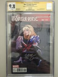 Edge of Spider-Verse #2 Variant. Signed Stan Lee Greg Land. Cgc 9.8 Mint 1:25