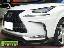 For 2015+ Lexus Nx200t Nx300h F-sport Ai Style Carbon Front Bumper Add-on Lip