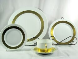 Anneau Dand039or By Ceralene Limoge France China Place Settings Menton Empire Shape