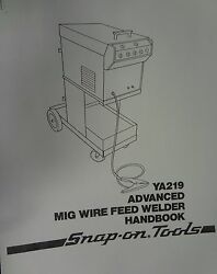 Century/snap-on Mig Welder Parts And Owners Manual Ya219 / 117-022
