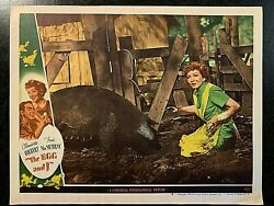 The Egg And I 1947 Original Lobby Card Claudette Colbert Fred Macmurray