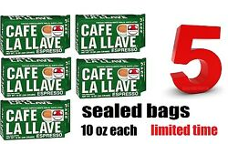 5 Cafe La Llave 5 PACKs of coffee groundespresso cafe cappuccino