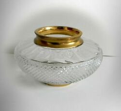 Moser Vintage Heavy Cut Crystal Bowl With 24k Gold Accents Splendid