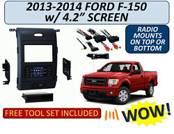 2013-2014 Ford F-150 W/ 4.2 Screen Turbo Touch Single/double Din Dash Bezel Kit