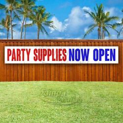 Party Supplies Now Open Advertising Vinyl Banner Flag Sign Large Huge Xxl Size