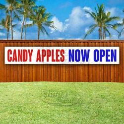 Candy Apples Now Open Advertising Vinyl Banner Flag Sign Large Huge Xxl Size