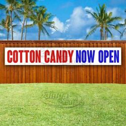 Cotton Candy Now Open Advertising Vinyl Banner Flag Sign Large Huge Xxl Size