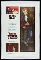 REBEL WITHOUT A CAUSE ✯ CineMasterpieces 1955 JAMES DEAN VINTAGE MOVIE POSTER