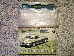 1965 Corvette Factory Gm Owners Manual 2nd Edition Part 3859589 W/ 1/2 Card
