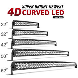 52/50/42/32/22inch Curved Led Light Bar Driving Truck Suv Boat Offroad 672w/700w