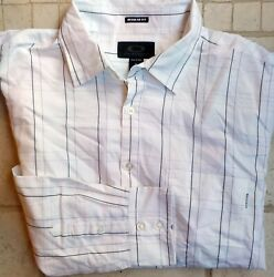Oakley White Black Plaid Long Sleeve Button Front Casual Shirt Rayon Blend XXL $29.95