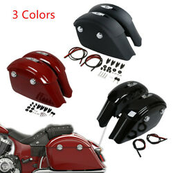 Saddlebags Electronic Latch Lid Fit For Indian Roadmaster 15-18 Chieftain 14-17