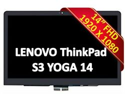 Lenovo Thinkpad Yoga Fru 00ht568 14 Fhd Ips Lcd Led Touch Screen Assembly