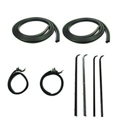 Door Seal Window Sweeps Channel Kit Windows Left And Right For 83-88 Ford