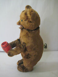Rare 1960and039s Mechanical Wind-up Vintage Teddy Bear Russia Ussr Soviet 24cm