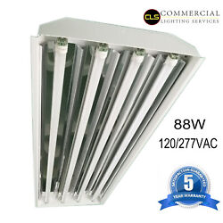 T8 LED High Bay Warehouse Shop Commercial Light 4 Lamp Fixture USA MADE Bright