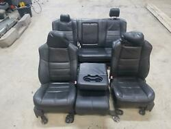 2008-2010 Ford F250 F350 Lariat FX4 Black seats + centre console as31257