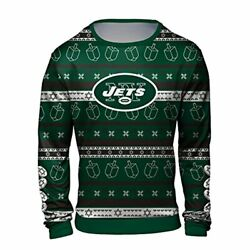Forever Collectibles Nfl Men's New York Jets Hanukkah Ugly Crew Neck Sweater