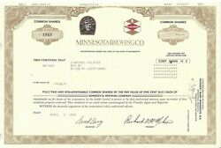 Minnesota Brewing Co.....1999 Common Stock Certificate